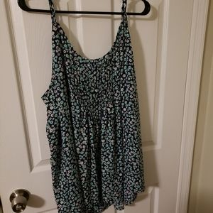 Blue and white floral cammie
